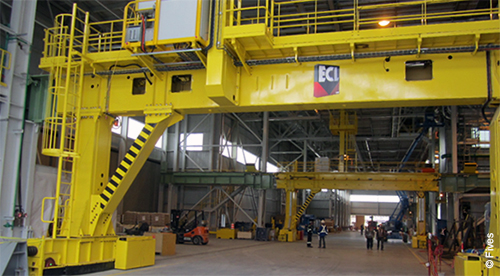 pot tending machine Nkm noell special cranes gmbh supplied three pot tending machines and a transfer gantry system the pilot facility consists of 60 new pot cells.