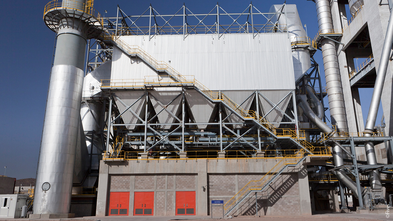 dust-collector bag-filter baghouse dry-scrubber fgd desulfurization NOx-control hot-filtration particulates-removal emission flue-gas-cleaning Waste-to-energy Lime Cement incineration gas Mexico-FIVES