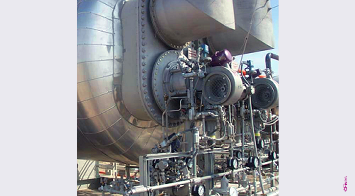 North American Series 6131 Packaged Burner on Oil Field Application-FIVES
