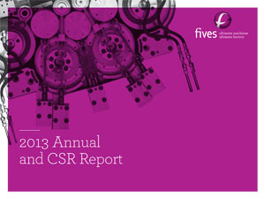 Couv Fives CSR-Report 2013 double 3-FIVES Fives Piping Solutions