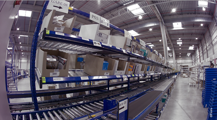 Intralogistics order fulfillment line - Flexible logistics solutions improving productivity and service quality