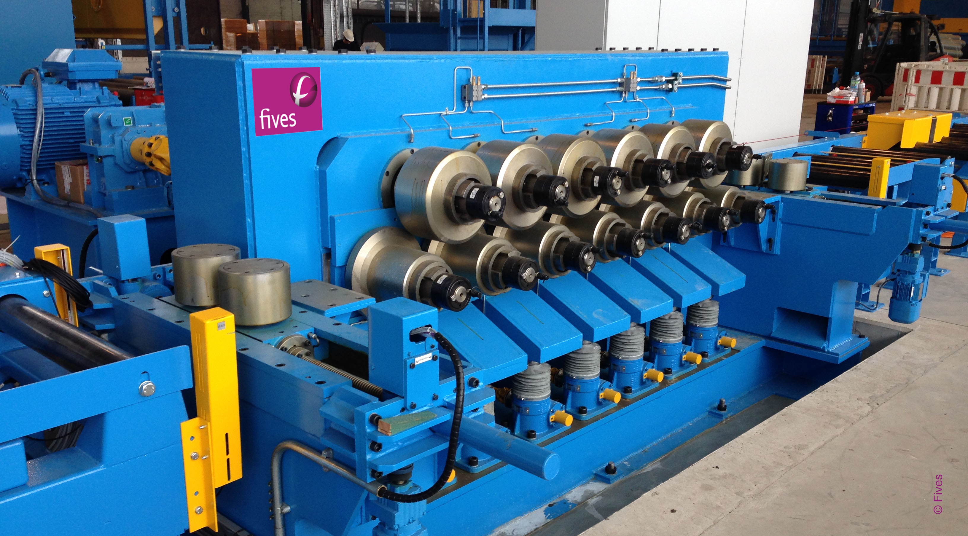 Fives section straightener-FIVES