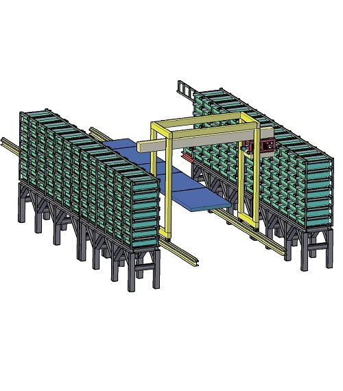 Vertical storage for compact loads