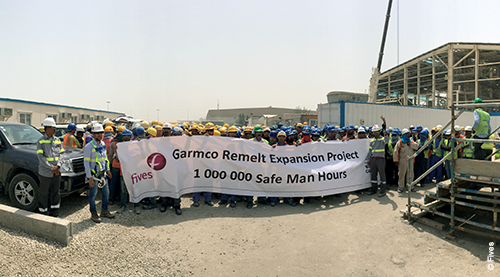 Fives Aluminium  Main Safety Achievement at Garmco site april17-FIVES