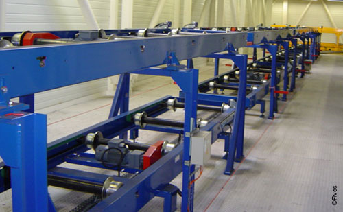 CFC Roller conveyor 2 floors