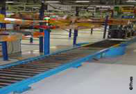CFC Roller conveyor for light loads