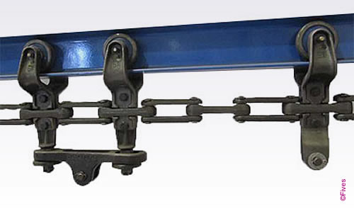 Overhead conveyor forged chain