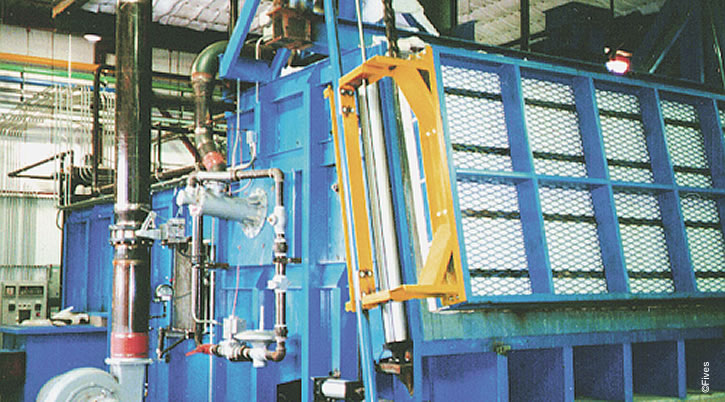 North American Series 4575 HiRAM Gas Burner on Aluminum Melting Furnace-FIVES