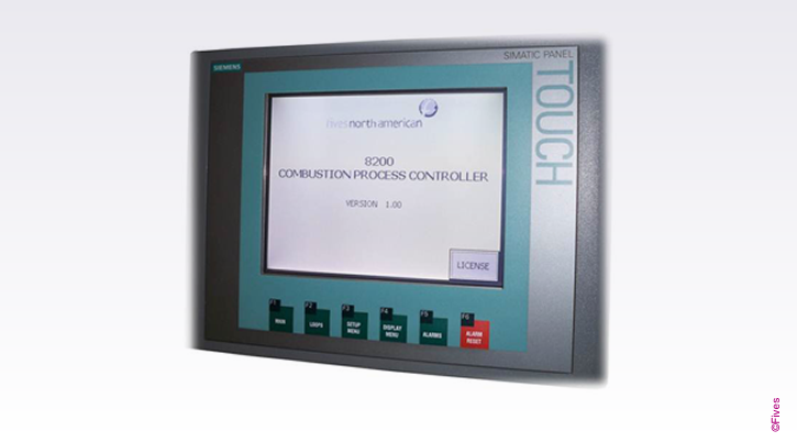 North American Series 8200 Combustion Process Controller Screen-FIVES