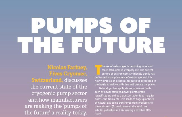 Pumps of the future by the division Cryogenics | Energy of Fives