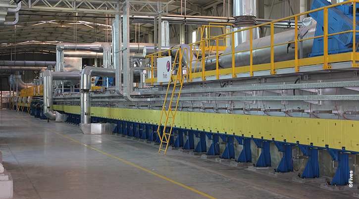 Düzce Cam annealing lehr float line©Fives-FIVES