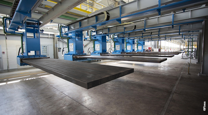 Sangalli- float glass line and tin bath © Fives-FIVES