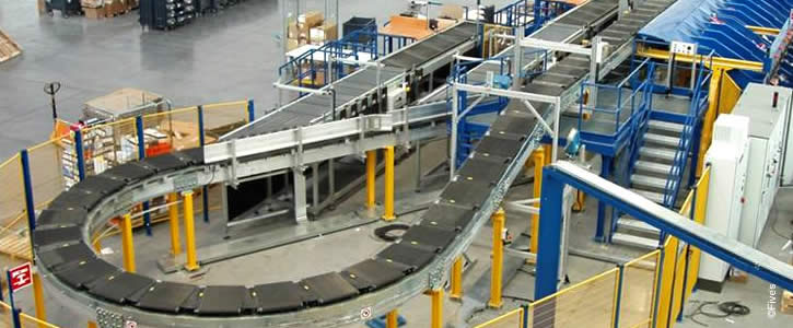 3PL automated fulfillment line in a logistics warehouse