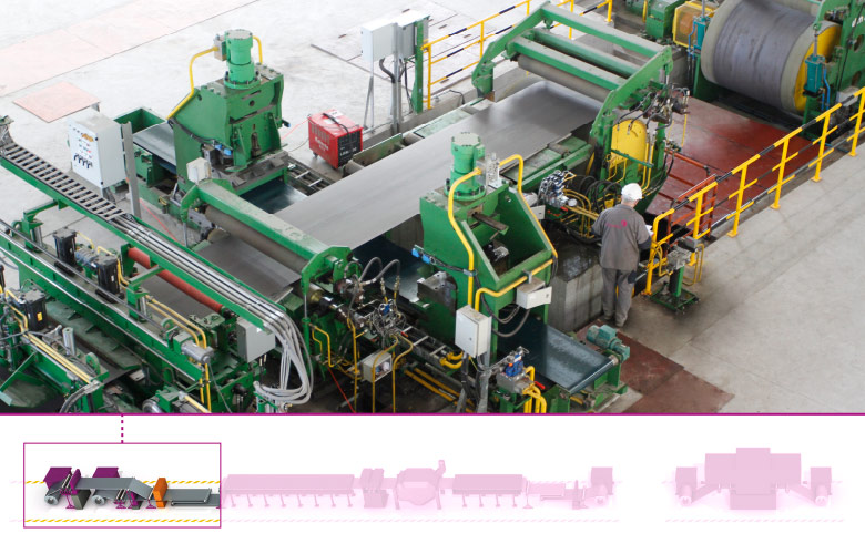 Entry coil handling section