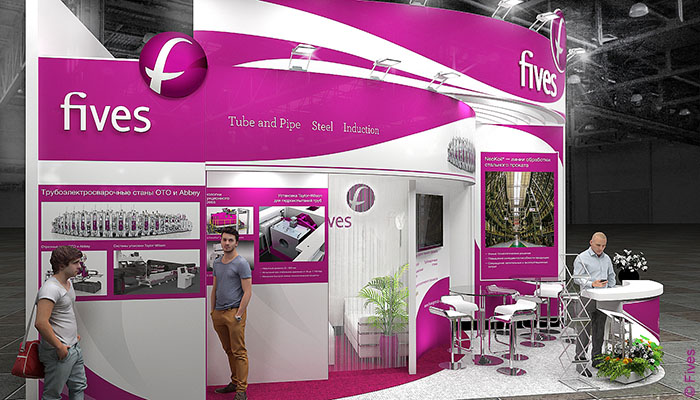 Fives stand at Metal-Expo
