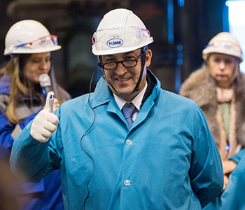 [Translate to French:] Guillaume Mehlman, President of the Steel and Glass business lines at Fives