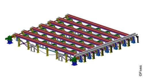 Fives tube pipe cooling beds-FIVES