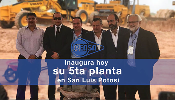PEASA' new tube plant inauguration